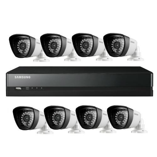 دوربین مداربسته ساسونگ: پکیج های آنالوگ سامسونگ شامل دوربین آنالوگ سامسونگ و دستگاه DVR سامسونگ